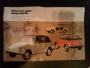 Volkswagen Thing dealer brochure