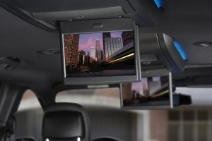 2013 Chrysler Town & Country rear entertainment with Blu-Ray
