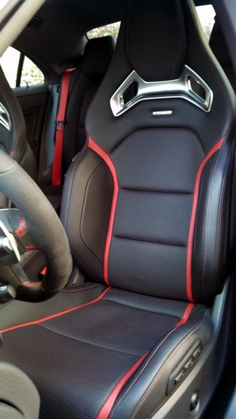 2014 Mercedes-Benz CLA45 AMG review - Recaro seats