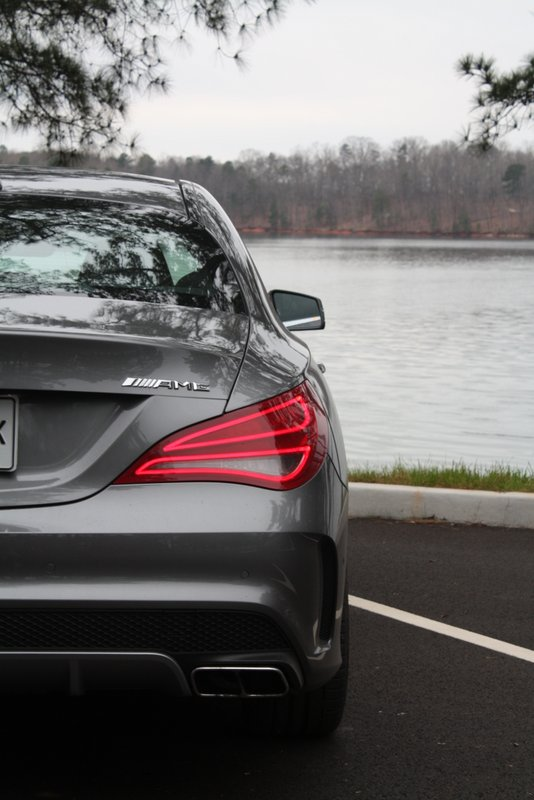 2014 Mercedes-Benz CLA45 AMG review - rear