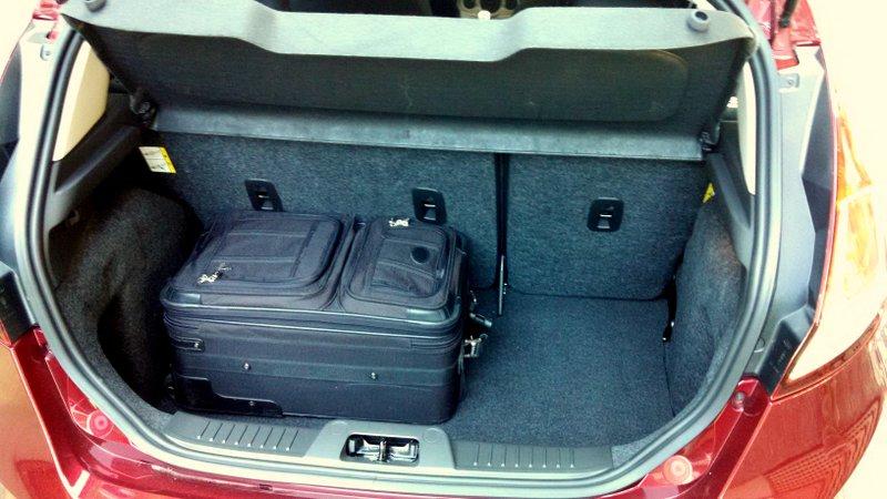 2014 Ford Fiesta SFE 1-liter EcoBoost road trip cargo - LivingVroom.com