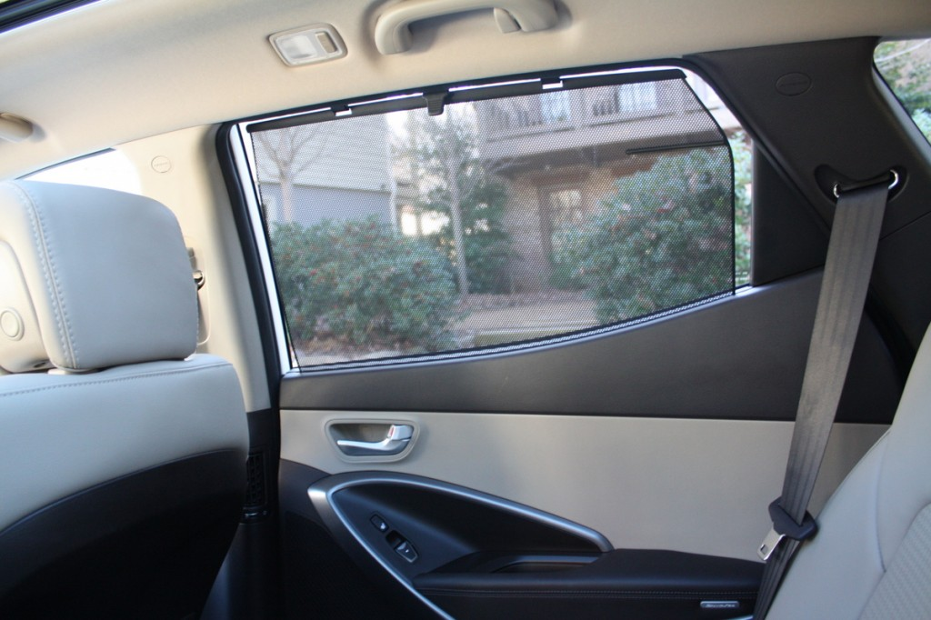 2014 Hyundai Santa Fe Sport rear side sunshade