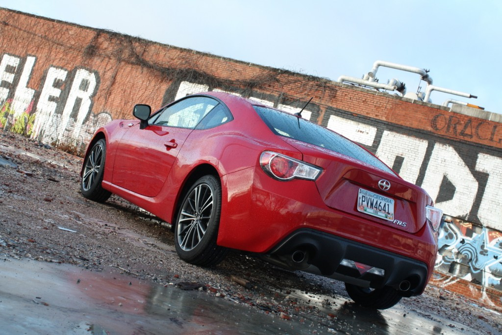 2014 Scion FR-S rear three-quarter - LivingVroom.com