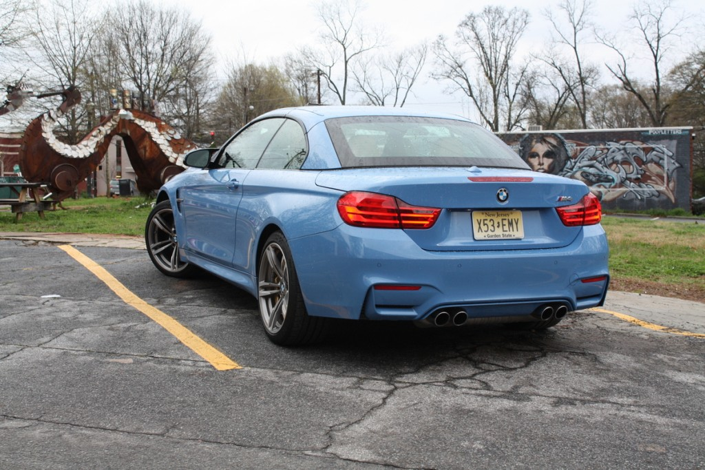2015 BMW M4 Convertible Yas Marina Blue Metallic Atlanta tail