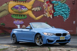 2015 BMW M4 Convertible Yas Marina Blue Metallic Atlanta top down